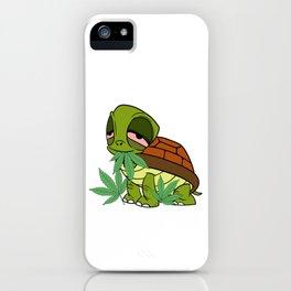 Chill' Ma Cannabis Weed T-shirt Design Marijuana Medication Legalized Reptile Tortoise Sea Sand iPhone Case