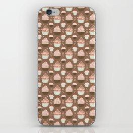 Elegant Cupcakes Food Vector Pattern Seamless iPhone Skin