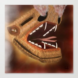 Atttack of the snake dragon Canvas Print