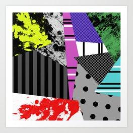 Pick A pattern II - geometric, textured, colourful, splatter, stripes, marble, polka dot, grid Art Print