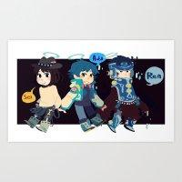 dmmd Art Prints featuring DMMD-seragakis by Mimiblargh