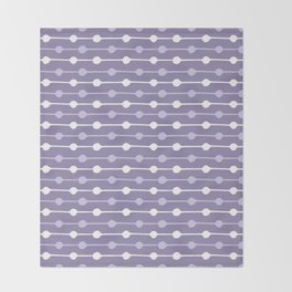 Dots Stripes Ultraviolet Throw Blanket