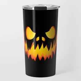 Evil Halloween pumpkin Travel Mug