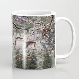 Wisteria Buds Surrounding the Lycian Tombs Dalyan Coffee Mug