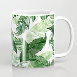 Green leaf watercolor pattern Coffee Mug