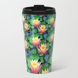 Fractal Flowing Water Lilies Travel Mug