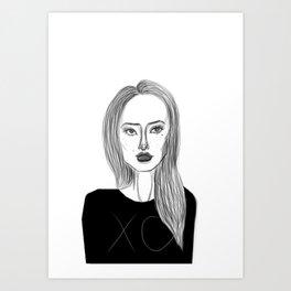 XO Girl Fashion Illustration Art Print