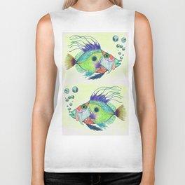 Funky Fish Art - By Sharon Cummings Biker Tank