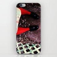 socks iPhone & iPod Skins featuring red socks by rachel kelso