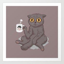 Catffeinated Art Print