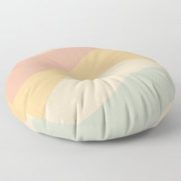 Abstract Color Waves - Neutral Pastel Floor Pillow