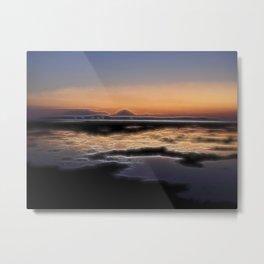 romantic sunset for lovers Metal Print