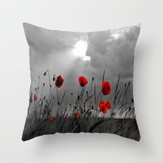 Only poppies... Throw Pillow