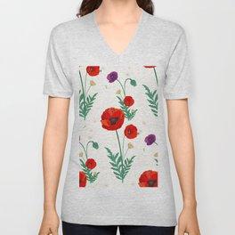poppies blossom Unisex V-Neck