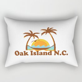 Oak Island - North Carolina. Rectangular Pillow