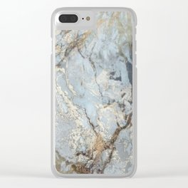 Marble swirls Clear iPhone Case