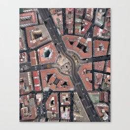 Pentagonal urbanism Canvas Print