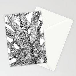 looping braids Stationery Cards