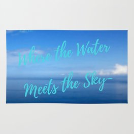 Text | Words | Sayings | Join Me... | Beach Vibes | Vacation Rug