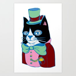 Dignified Cat Does Pastels Art Print