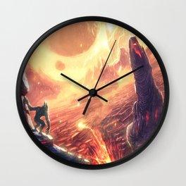 Fire World Wall Clock