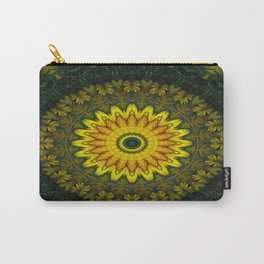 Large Yellow Wildflower Kaleidoscope Art 5 Carry-All Pouch