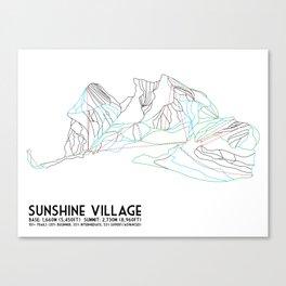 Sunshine Village, Alberta, Canada - Minimalist Trail Art Canvas Print