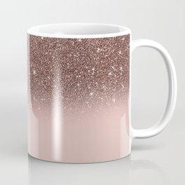 Rose Gold Glitter Ombre Coffee Mug