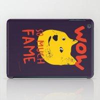 shiba iPad Cases featuring Shiba doge so much fame by Sylwia Borkowska