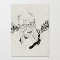 lama Canvas Prints featuring Dalai Lama by RiversAreDeep