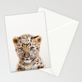 Baby Leopard, Baby Animals Art Print By Synplus Stationery Cards