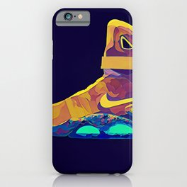 Neon Sneaker Head Back to the Furture iPhone Case