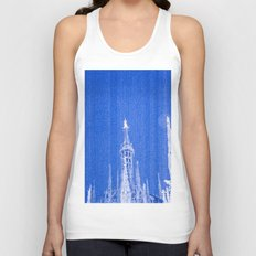 Night of Blue over Milan Unisex Tank Top