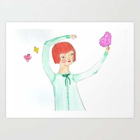 cotton candy Art Print