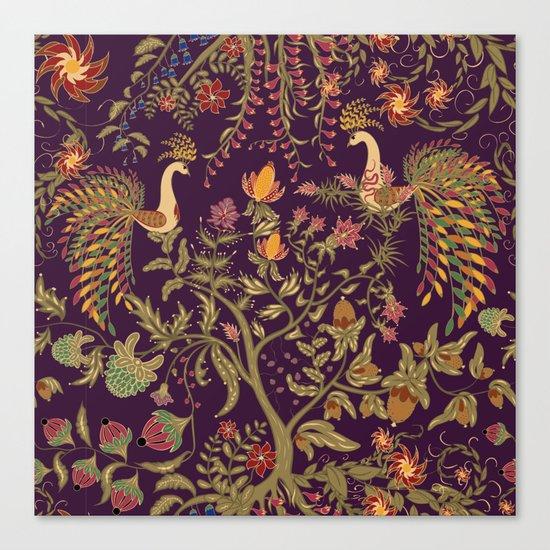 Birds of Paradise. Colorful illustration. Canvas Print