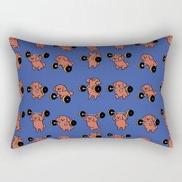 Olympic Lifting  Poodle Rectangular Pillow