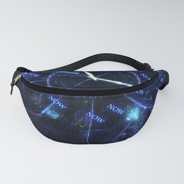 The Time is Now - Fractal - Manafold Art Fanny Pack