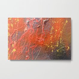 Splatters of Paint Metal Print