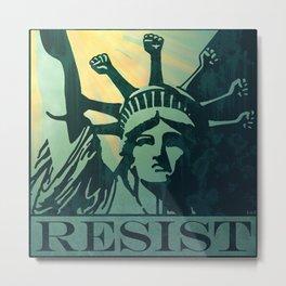 RESIST Metal Print