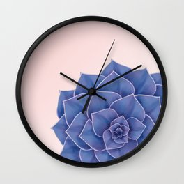 Big Echeveria Design Wall Clock