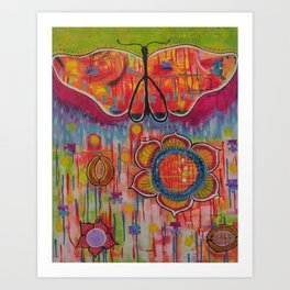 """With these wings I can Fly"" Original painting by Toni Becker, Artfully Healing Art Print"
