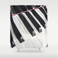 piano Shower Curtains featuring Piano Keys by Regan's World