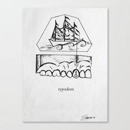 typodont. Canvas Print