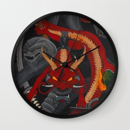 Karma Assassins I Wall Clock