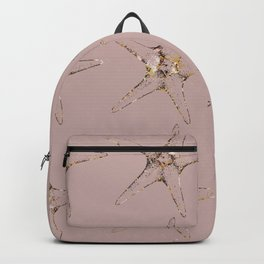 Rose gold starfish Backpack