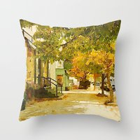 norway Throw Pillows featuring Norway, ME by 163 Design Company