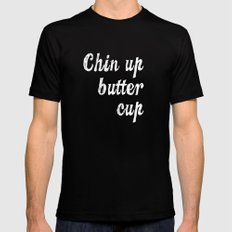 Chin Up Butter Cup Mens Fitted Tee Black MEDIUM