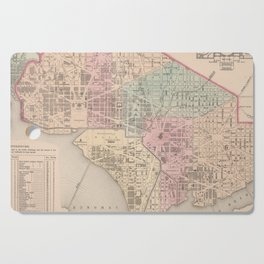Vintage Map of Washington DC (1857) Cutting Board