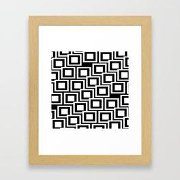 Black and White Squares Pattern 02 Framed Art Print