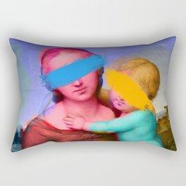 Raphael Classical Painting Remix Pop Art Rectangular Pillow